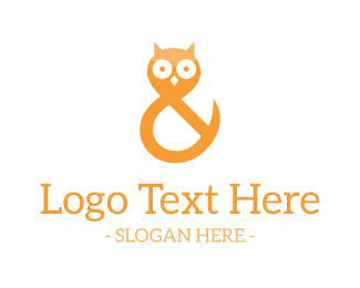 Learn - Ampersand Owl logo design