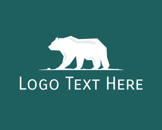 Epic - Big White Polar Bear logo design