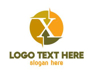 Roman Numeral - Colorful X Sun logo design