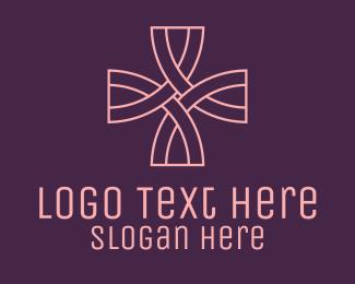 Religious - Pink Religious Cross logo design
