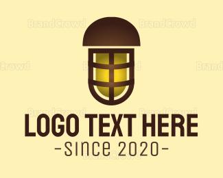 Bulb - Outdoor Yellow Lamp logo design