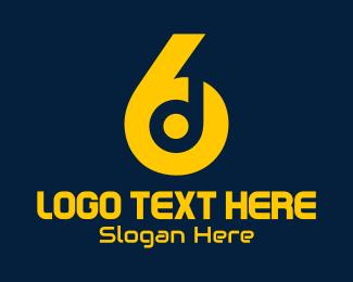 Headset - 6 & D logo design