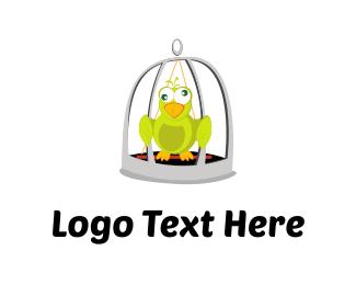 Pet Store - Crazy Parrot logo design