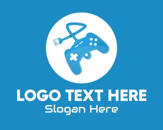 Game Controller - Blue Game Controller logo design