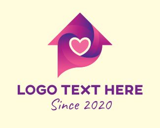 Caregiving - Lovely Home Chat  logo design