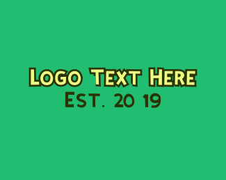 Child Care - Jungle Green Wordmark logo design