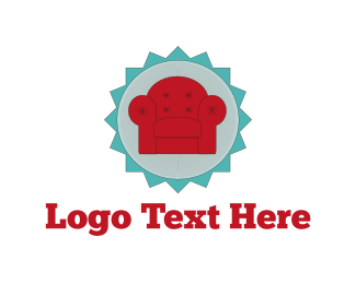 Sofa - Red Armchair logo design