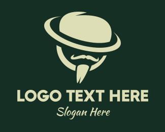 Mysterious - Gentleman Barbershop logo design