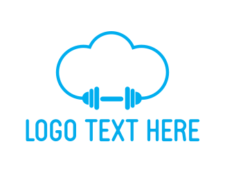 Gymnasium - Cloud Gym logo design