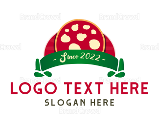 Italian Food - Margherita Cheese Pizza logo design