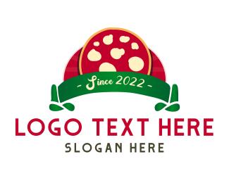 Italian Restaurant - Margherita Cheese Pizza Restaurant logo design