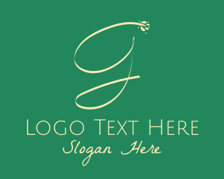 Signature - Feminine Salon Letter G logo design