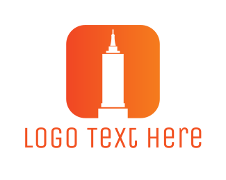 Orange Tower - Empire State App logo design