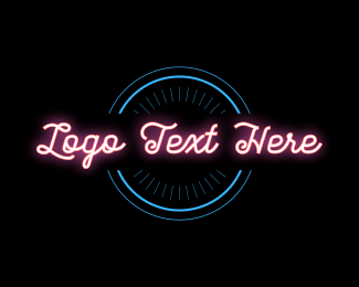 Entertain - Pink Neon Sign  logo design