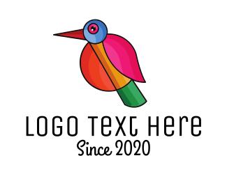 Natural Reserve - Geometric Minimalist Bird logo design