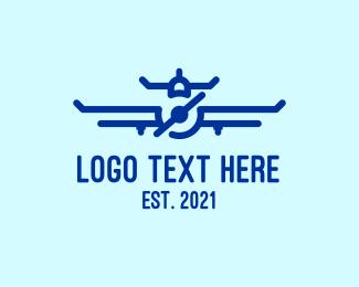 Aeroplane - Blue Aeroplane logo design