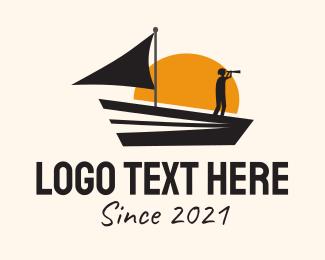 Transport - Sea Transport Boat logo design