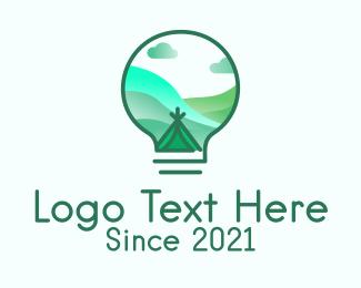 Innovate - Lightbulb Outdoor Camp logo design