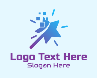 Gadgets - Star Wand Pixel logo design