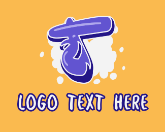 Vape Shop - Blockbuster Graffiti Letter T logo design