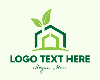 Property Agent - Green Organic House logo design
