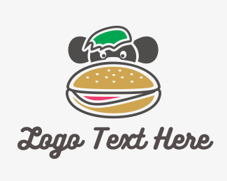 Roll - Monkey Burger logo design