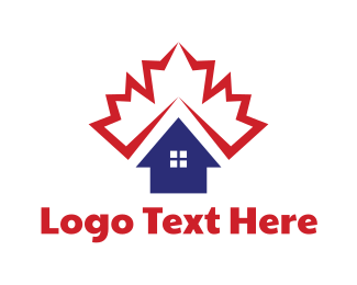 Pink House - Canadian Housing logo design