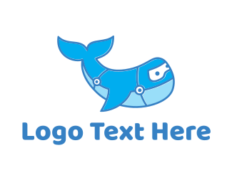 Cleaning - Blue Whale logo design