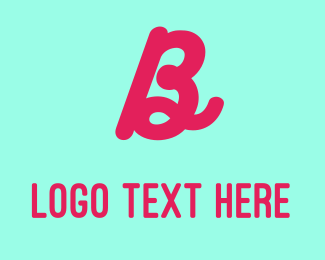 Calligraphy - Magenta Letter B logo design