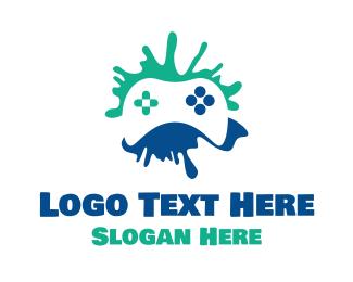 Nintendo - Controller Splatter logo design