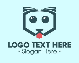 Pet Grooming - Cute Pet Dog logo design