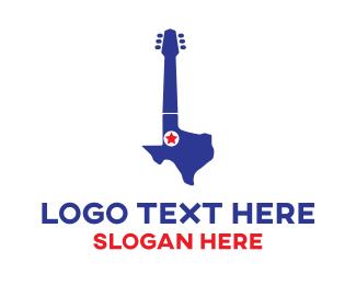 Texas State - Texas Guitar logo design
