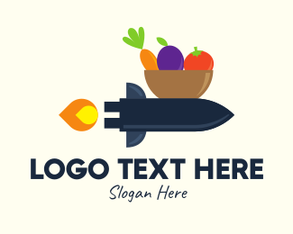 Delivery Service - Vegetable Rocket Delivery logo design