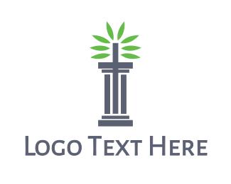 Leaves - Pillar Leaves logo design