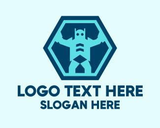 Robotics - Robot Technology logo design