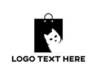 Cat - Cat Bag logo design