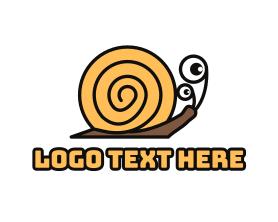 Shell - Yellow Shell Snail logo design