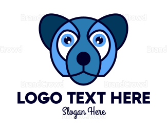 Cub - Blue Wolf Mascot logo design