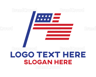 American Flag - Modern American Flag logo design