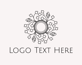 Interior Decoration - Floral Circle logo design