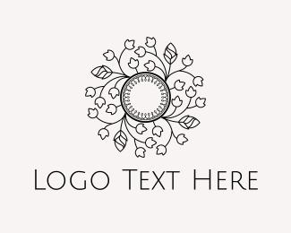 Botanical - Floral Circle logo design