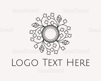 Circle - Floral Circle logo design