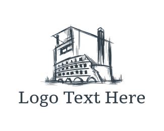 Sketch - Colosseum House logo design