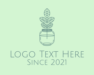 Jar - Water Jar Plant logo design