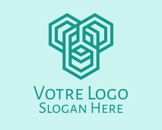 Construction Geometric Construction Firm  logo design