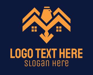Construction - Eagle House Construction logo design