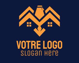 Construction Eagle House Construction logo design