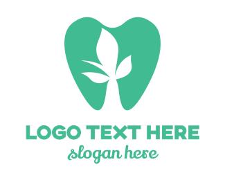 Green Tooth - Green Dental Dentist Tooth logo design