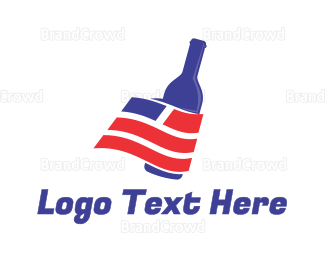 Whiskey - USA Wine Bottle logo design