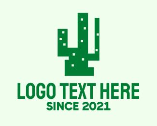 Cactus - Modern Cactus Building  logo design